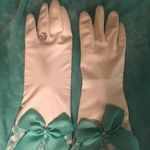 Accessories - Rubber gloves fabric bows and crystal ring bling